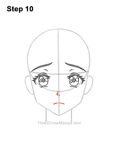 How to Draw a Manga Girl Sad Depressed Face Anime Short Hair 10