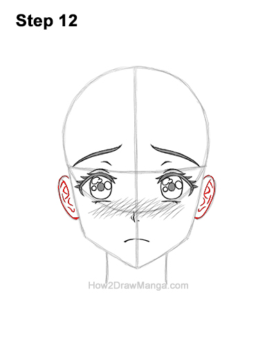 How to Draw a Manga Girl Sad Depressed Face Anime Short Hair 12