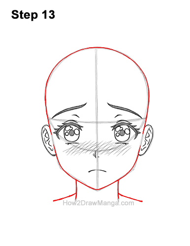 How to Draw a Manga Girl Sad Depressed Face Anime Short Hair 13