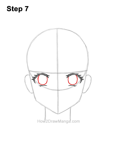 How to Draw a Manga Girl Sad Depressed Face Anime Short Hair 7