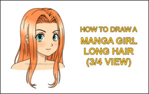 How to Draw Manga Girl Female Woman Long Hair Three Quarter 3/4 View Anime Thumbnail