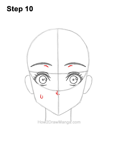 How to Draw a Manga Girl Woman Surprised Shocked Face Anime Short Hair 10