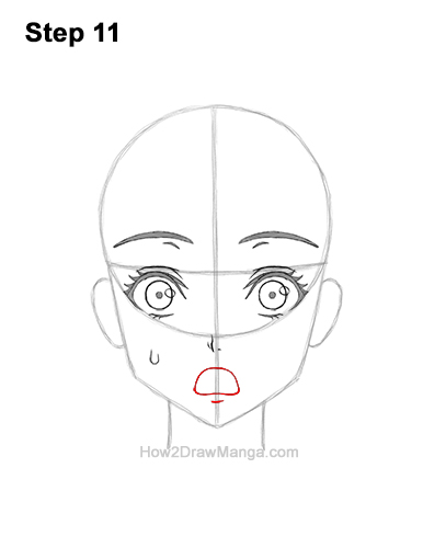 How to Draw a Manga Girl Woman Surprised Shocked Face Anime Short Hair 11