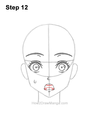 How to Draw a Manga Girl Woman Surprised Shocked Face Anime Short Hair 12
