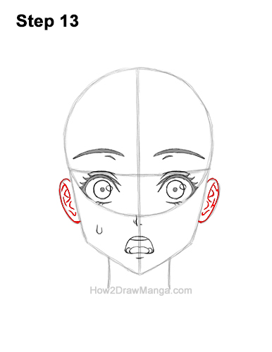 How to Draw a Manga Girl Woman Surprised Shocked Face Anime Short Hair 13