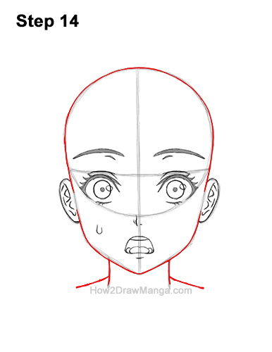 How to Draw a Manga Girl Woman Surprised Shocked Face Anime Short Hair 14