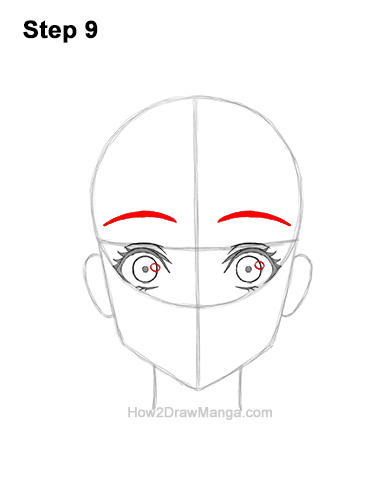 How to Draw a Manga Girl Woman Surprised Shocked Face Anime Short Hair 9