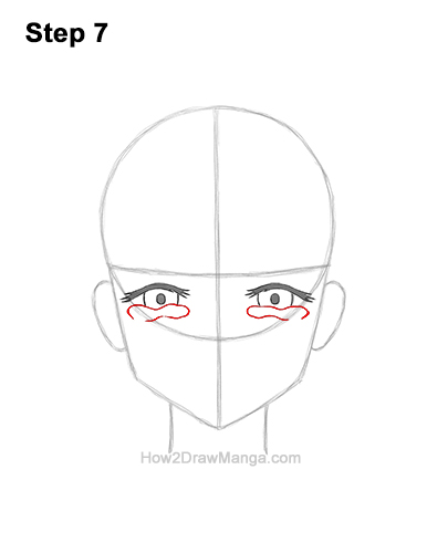 How to Draw a Manga Girl Woman Crying Tearful Teary-Eyed Sad Face Anime Short Hair 7