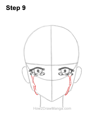 How to Draw a Manga Girl Woman Crying Tearful Teary-Eyed Sad Face Anime Short Hair 9