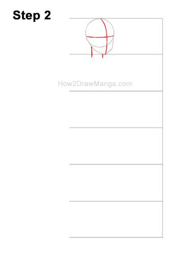 How to Draw a Basic Manga Anime Girl Female Woman Full Body Three Quarter 3/4 View 2