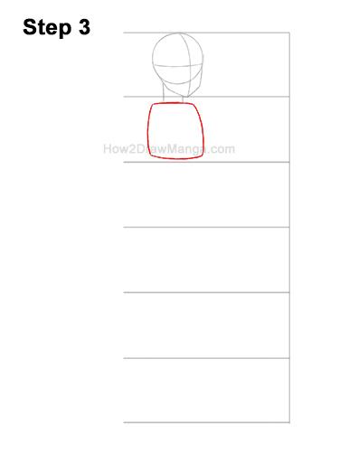 How to Draw a Basic Manga Anime Girl Female Woman Full Body Three Quarter 3/4 View 3