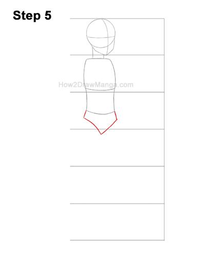 How to Draw a Basic Manga Anime Girl Female Woman Full Body Three Quarter 3/4 View 5
