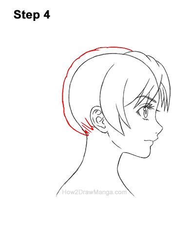 How to Draw Manga Girl Woman Ponytail Hair Side View Anime 4