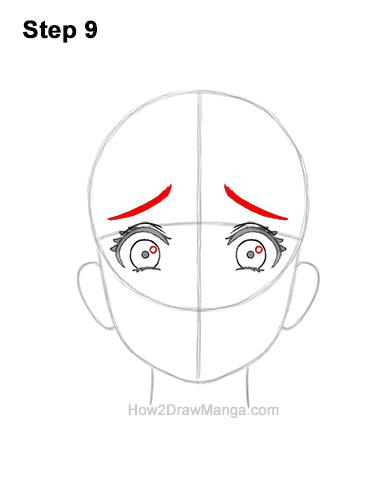 How to Draw a Manga Girl Woman Scared Afraid Face Fear Anime Short Hair 9