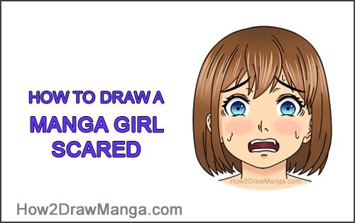 How to Draw a Manga Girl Woman Scared Afraid Face Fear Anime Short Hair