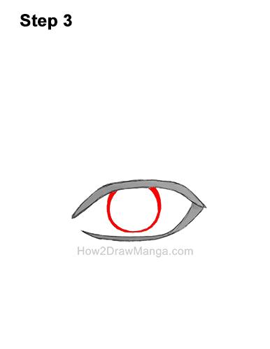 How to Draw a Manga Eye Anime Adult Man Male Boy Guy 3