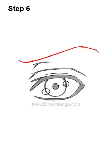 How to Draw a Manga Eye Anime Adult Man Male Boy Guy 6