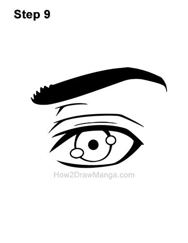 How to Draw a Manga Eye Anime Adult Man Male Boy Guy 9