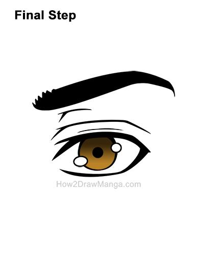 How to Draw a Manga Brown Eye Anime Adult Man Male Boy Guy 10