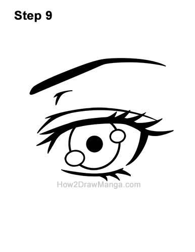How to Draw a Manga Eye Anime Adult Woman Female Girl 9