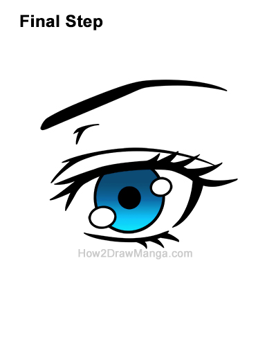 How to Draw a Manga Eye Blue Anime Adult Woman Female Girl Last