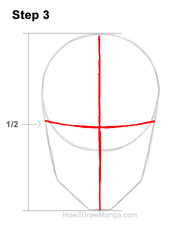 How to Draw Manga Anime Adult Man Male Guy Head Face Front View 3