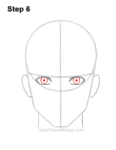 How to Draw Manga Anime Adult Man Male Guy Head Face Front View 6