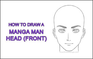 How to Draw Manga Anime Adult Man Male Guy Head Face Front View Thumbnail