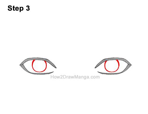 How to Draw Both Manga Eyes Anime Adult Man Male Guy 3