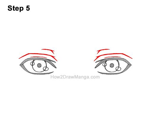 How to Draw Both Manga Eyes Anime Adult Man Male Guy 5