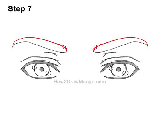 How to Draw Both Manga Eyes Anime Adult Man Male Guy 7