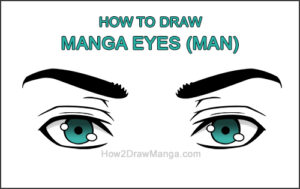 How to Draw Both Manga Eyes Anime Adult Man Male Guy Thumbnail