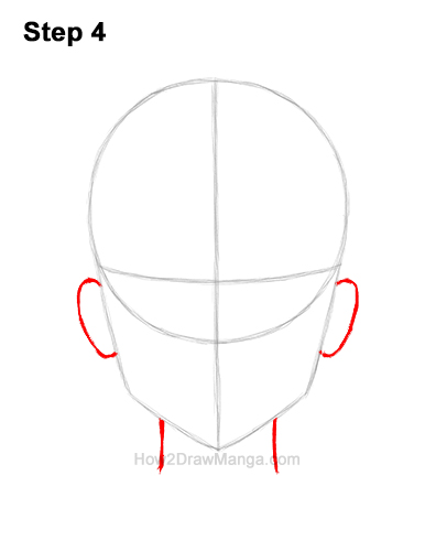 How to Draw Manga Anime Adult Woman Female Girl Head Face Front View 4