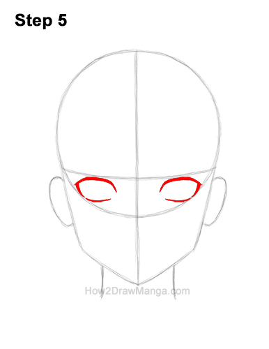 How to Draw Manga Anime Adult Woman Female Girl Head Face Front View 5