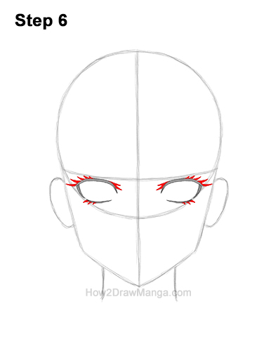 How to Draw Manga Anime Adult Woman Female Girl Head Face Front View 6