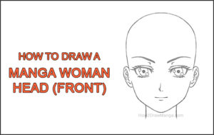 How to Draw Manga Anime Adult Woman Female Girl Head Face Front View Thumbnail