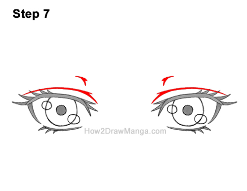 How to Draw Both Manga Eyes Anime Adult Woman Female Girl 7