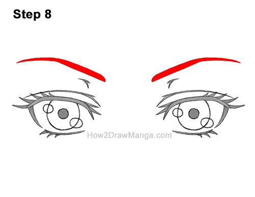 How to Draw Both Manga Eyes Anime Adult Woman Female Girl 8