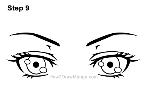 How to Draw Both Manga Eyes Anime Adult Woman Female Girl 9