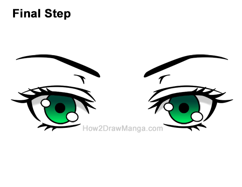 How to Draw Both Manga Eyes Anime Adult Woman Female Girl Last