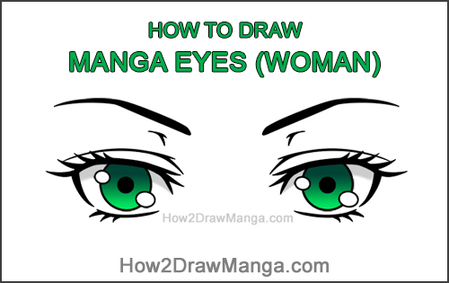 How to Draw Both Manga Eyes Anime Adult Woman Female Girl