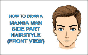 How to Draw Manga Anime Man Guy Side Part Parted Hair Hairstyle Front View Thumbnail